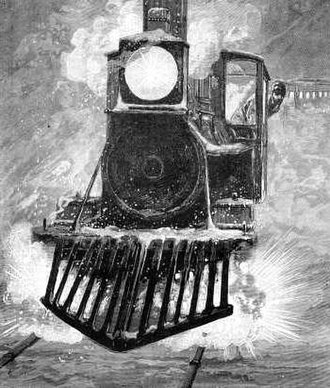 Detonator (railway) - This illustration from an 1882 Leslie's Monthly portrays an engineer (fireman) finding a torpedo on the track.