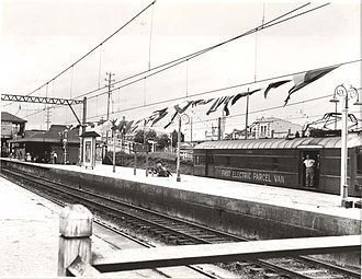 Sutherland railway station - Station in 1954