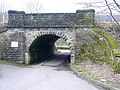 Railway bridge at Wheatley Royd Farm, Mytholmroyd - geograph.org.uk - 1170099.jpg
