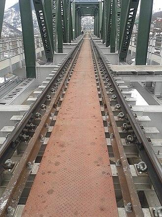 Jammu–Baramulla line - Rail bridge in Banihal