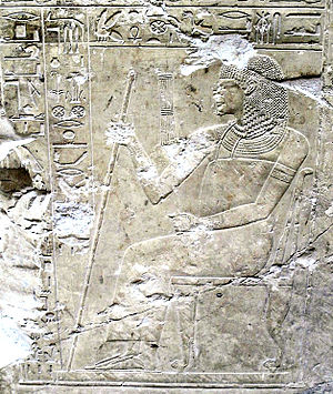 Ramose (TT55) - Depiction of Ramose in his tomb