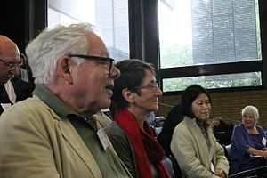 Oxford Symposium on Food and Cookery - Ray Sokolov (foreground) at a plenary session