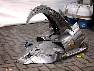 Robot Wars (TV series) - Razer, one of the most successful robots in the original series. It had the ability to puncture competitors.