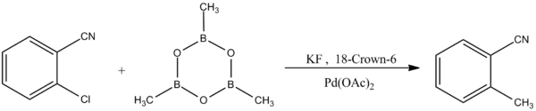 Reaction of Boroxine