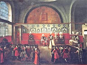 Jean-Louis d'Usson - Reception of the children of Marquis de Bonnac by the Ottoman Sultan, by Jean-Baptiste van Mour.