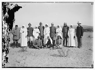 Women in World War I - Ottoman Red Crescent and Red Cross staff at Hafir el Aujah.