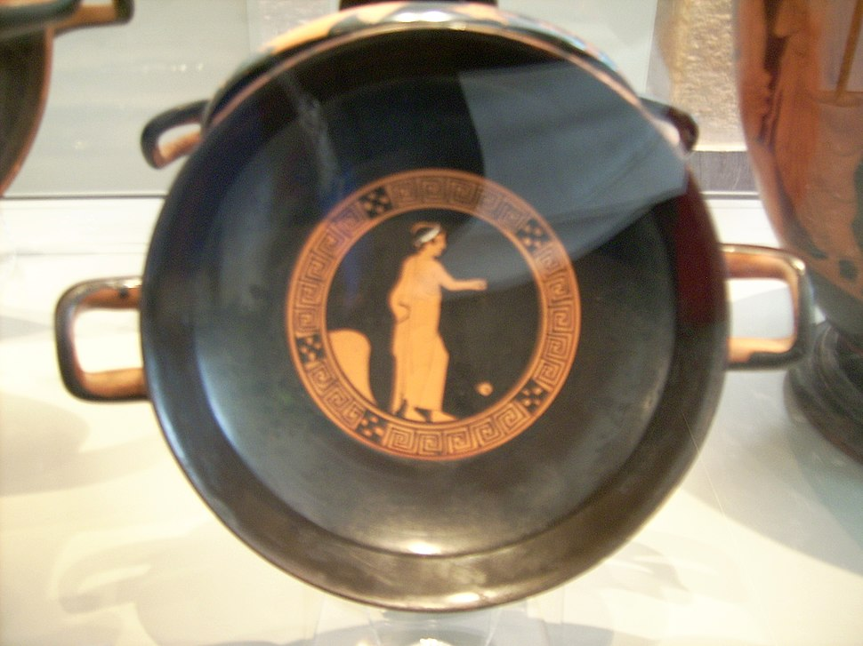 Red figure Kylix at the Antikensammlung Berlin