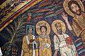 Redentore coi ss. paolo, cecilia, pasquale I, pietro, valeriano e agata, 820 ca. 03.jpg