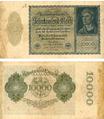 Reichsbanknote 10000 Mark von 1922 Nr 1H 266213.png