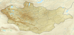 English: Relief map of Mongolia Equirectangula...
