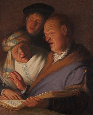 The Senses (Rembrandt) - Three Singers (Allegory of Hearing)