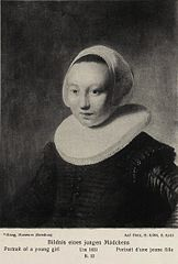 Portrait of a girl in a millstone collar