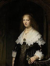 REMBRANDT Portrait of Maria Trip 1639