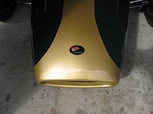 Repco - Repco Brabham badge on the nose of a Repco Brabham BT6 racing car