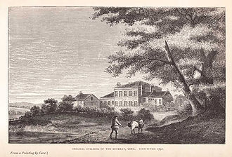 Lunatic asylum - The York Retreat (c. 1796) was built by William Tuke, a pioneer of moral treatment for the insane.