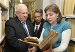 Reuven Rivlin in the Hebrew books collection in Russian State Library (2).jpg