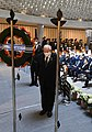 Reuven Rivlin lays a wreath at the memorial service for the Israeli casualties of war, April 2021 (GPOMN1 0161).jpg