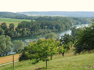 Hegau - The river Rhine near Gailingen