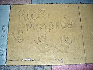 Rick Moranis - The handprints of Rick Moranis in front of The Great Movie Ride at Walt Disney World's theme park, Disney's Hollywood Studios