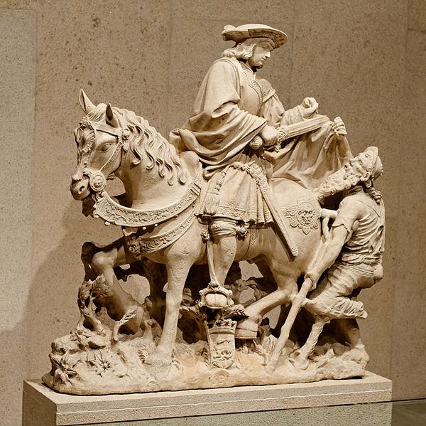 Fichier:Riding Saint Martin sharing his Cloak with a Beggar.jpg