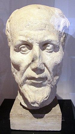 Ritratto di plotino, da ostia, terme del filosofo, 250-300 ca. (museo arch. ostia).JPG
