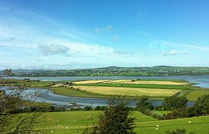Letterkenny - The mouth of the River Swilly at Lough Swilly in Letterkenny.