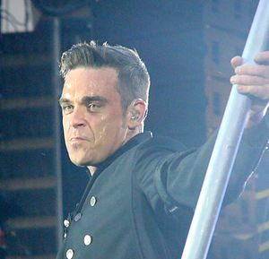 Robbie Williams performing as part of the Take...