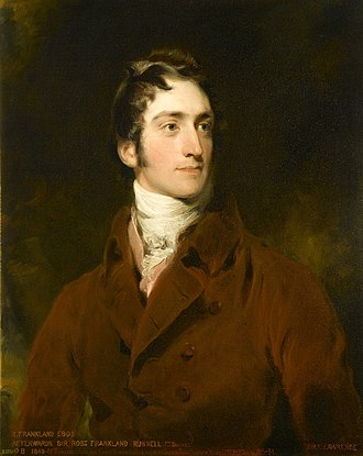 Sir Robert Frankland-Russell, 7th Baronet - Robert Frankland, portrait by Thomas Lawrence