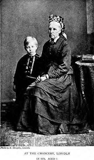 Robert Hugh Benson - Image: Robert Hugh Benson and Beth at the Chancery, Lincoln, in 1876, aged 5