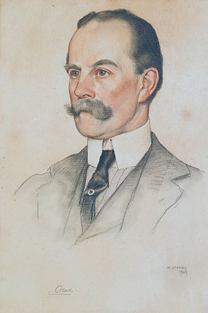 Robert Crewe-Milnes, 1st Marquess of Crewe - Robert Offley Ashburton Milnes, 1st Marquess of Crewe, by William Strang, 1907