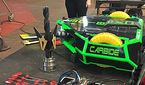Robot Wars (TV series) - Carbide, the winning robot in the second rebooted series. A fast-spinning blade is its primary weapon.