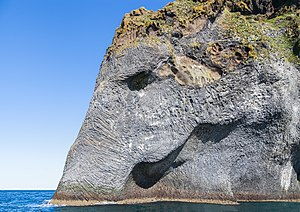 Heimaey - Elephant Rock, a natural rock formation