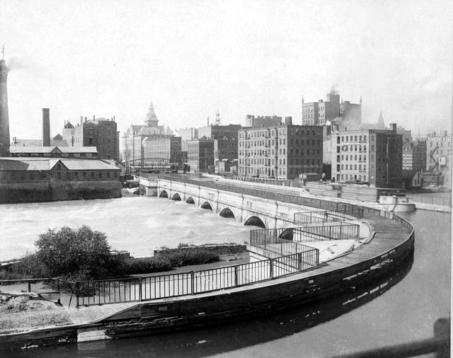 Rochester erie canal aqueduct circa 1890