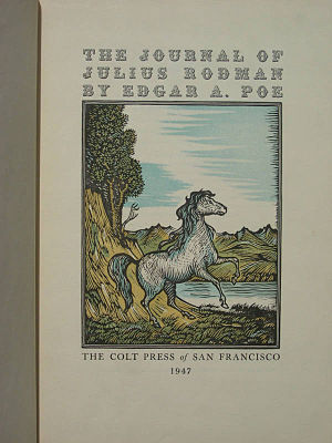The Journal of Julius Rodman - 1947 reprint title page by The Colt Press, San Francisco
