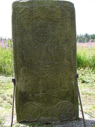 Rodney's Stone - Front face, containing the secular depictions.