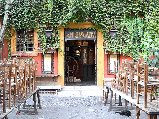 Restaurant Meo Patacca à Rome.