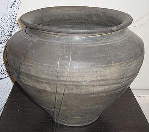 Alice Holt Forest - Roman cinerary urn of Alice Holt ware, 2nd century AD, excavated from near Farnham station in 1902.