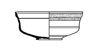 Terra sigillata - Profile drawing of form Dragendorff 29. 1st century AD.
