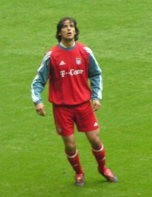 Roque Santa Cruz - Santa Cruz with Bayern Munich.