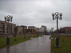 Gatchina - Roshchinskaya Street in Gatchina