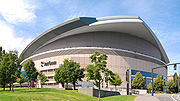 The Rose Garden, home of the Portland Trail Blazers, the only top-level sports team in Oregon.