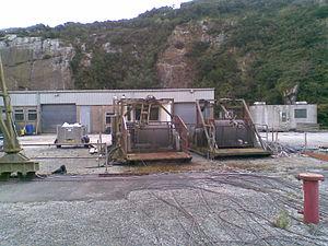 Rosemanowes Quarry - Winches