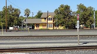 Roseville station (California) - Roseville Station from across the tracks, September 26, 2012