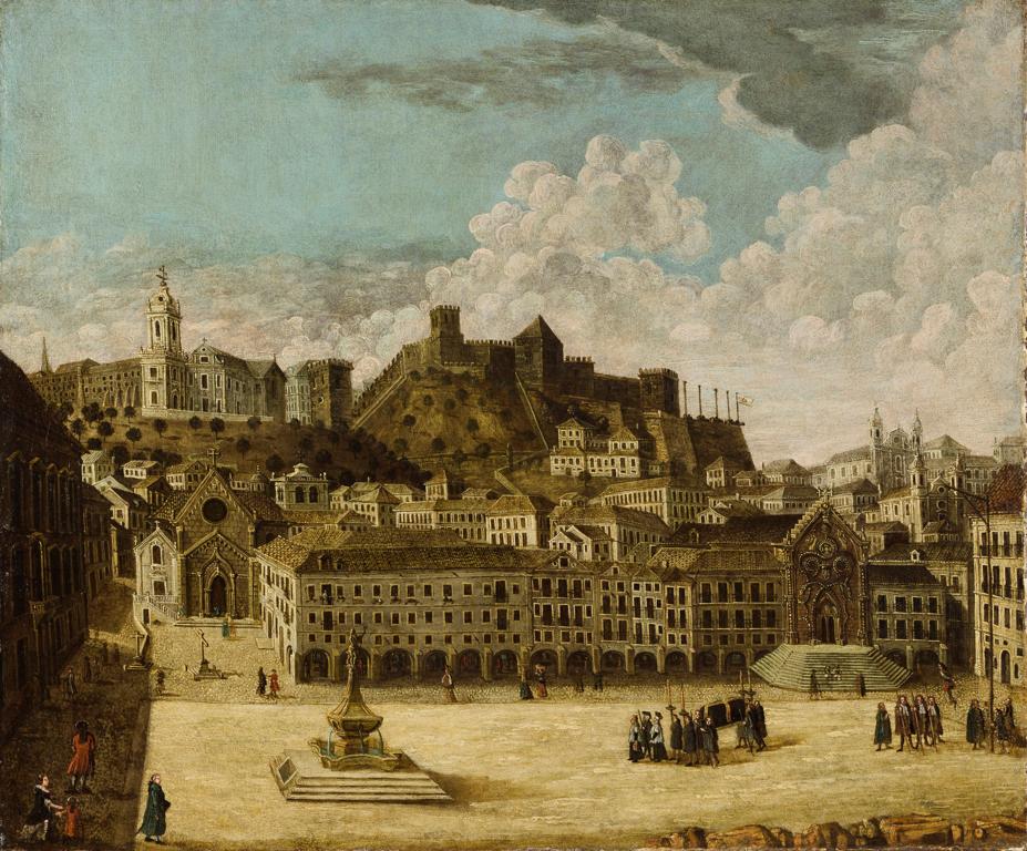 Chateau Saint Georges à Lisbonne avant le tremblement de terre avant le tremblement de terre de 1755.