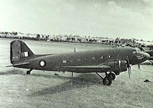 No. 300 Group RAF - A RAF Douglas Dakota at Camden Airport in 1945