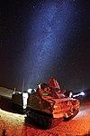 Royal Marine's Viking amphibious vehicle under the Mojave Desert night sky. MOD 45159998.jpg