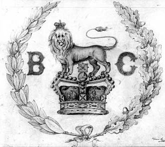 Coat of arms of British Columbia - The royal crest of British Columbia.