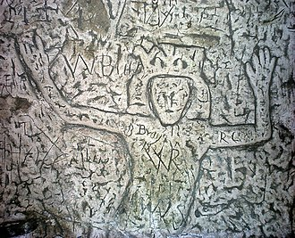 Royston, Hertfordshire - One of the carvings from the cave