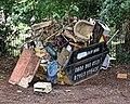 Rubbish skip off Overton Drive, Wanstead, London.jpg