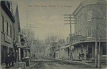 Rue Notre-Dame, Nicolet, Québec, vers 1910